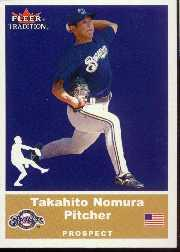 2002 Fleer Tradition Update #U14 Takahito Nomura SP RC