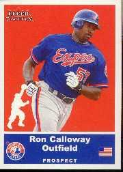 2002 Fleer Tradition Update #U15 Ron Calloway SP RC