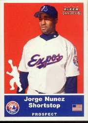 2002 Fleer Tradition Update #U18 Jorge Nunez SP RC