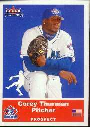 2002 Fleer Tradition Update #U23 Corey Thurman SP RC