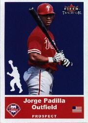 2002 Fleer Tradition Update #U31 Jorge Padilla SP RC