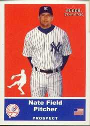 2002 Fleer Tradition Update #U33 Nate Field SP RC
