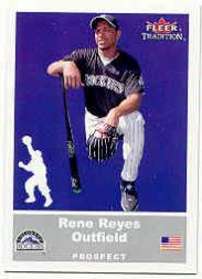 2002 Fleer Tradition Update #U46 Rene Reyes SP RC
