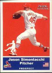 2002 Fleer Tradition Update #U48 Jason Simontacchi SP RC