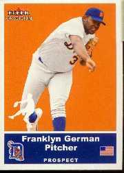 2002 Fleer Tradition Update #U50 Franklyn German SP RC