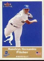2002 Fleer Tradition Update #U57 Runelvys Hernandez SP RC