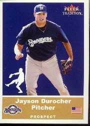 2002 Fleer Tradition Update #U63 Jayson Durocher SP RC