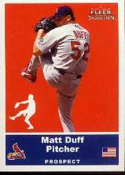 2002 Fleer Tradition Update #U73 Matt Duff SP RC