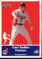 2002 Fleer Tradition Update #U74 Carl Sadler SP RC