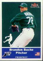 2002 Fleer Tradition Update #U76 Brandon Backe SP RC