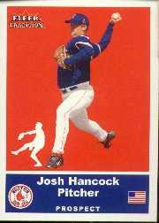2002 Fleer Tradition Update #U77 Josh Hancock SP RC