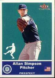 2002 Fleer Tradition Update #U81 Allan Simpson SP RC