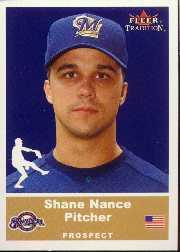 2002 Fleer Tradition Update #U86 Shane Nance SP RC