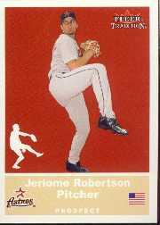 2002 Fleer Tradition Update #U89 Jeriome Robertson SP RC