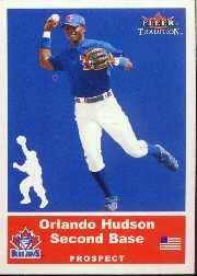 2002 Fleer Tradition Update #U95 Orlando Hudson SP