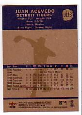 2002 Fleer Tradition Update #U113 Juan Acevedo