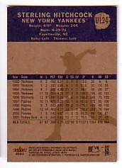 2002 Fleer Tradition Update #U124 Sterling Hitchcock