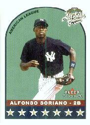 2002 Fleer Tradition Update #U301 Alfonso Soriano AS