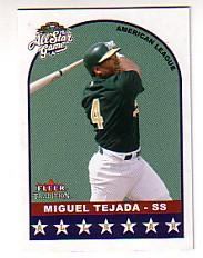 2002 Fleer Tradition Update #U308 Miguel Tejada AS