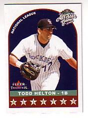 2002 Fleer Tradition Update #U329 Todd Helton AS