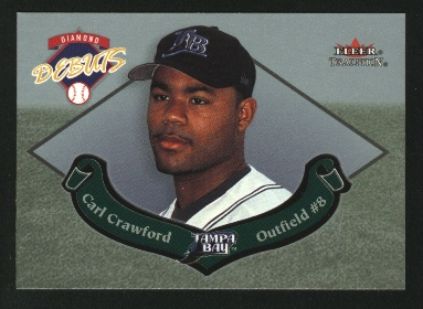 2002 Fleer Tradition Update Diamond Debuts #U12 Carl Crawford