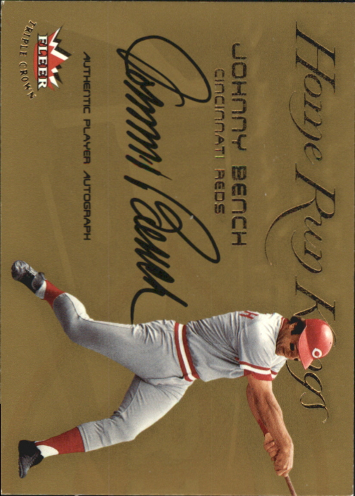 2002 Fleer Triple Crown Home Run Kings Autographs #1 Johnny Bench/45