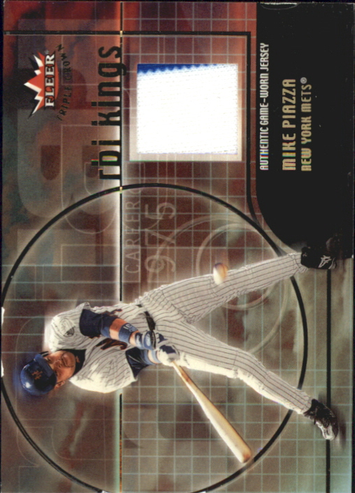 2002 Fleer Triple Crown RBI Kings Game Used #8 Mike Piazza Jsy