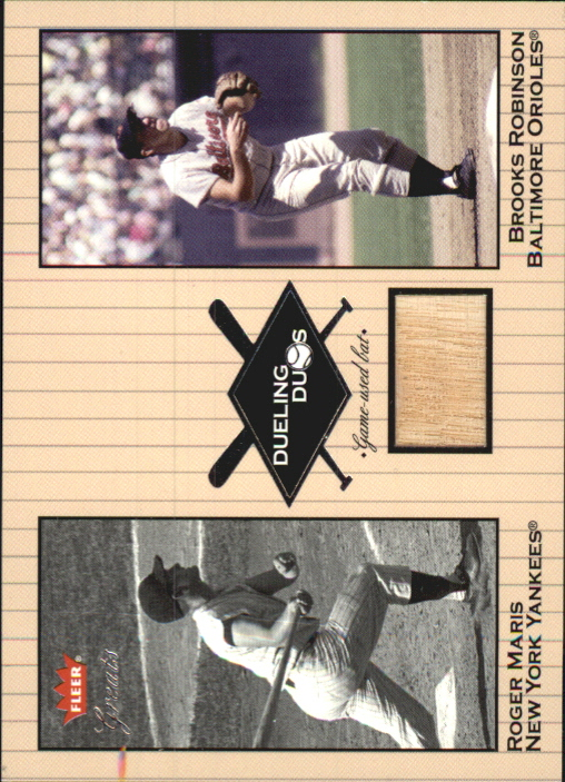 2002 Greats of the Game Dueling Duos Game Used Single #BR1 Brooks Robinson Bat/Roger Maris