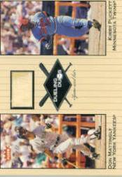 2002 Greats of the Game Dueling Duos Game Used Single #DM1 Kirby Puckett/Don Mattingly Bat