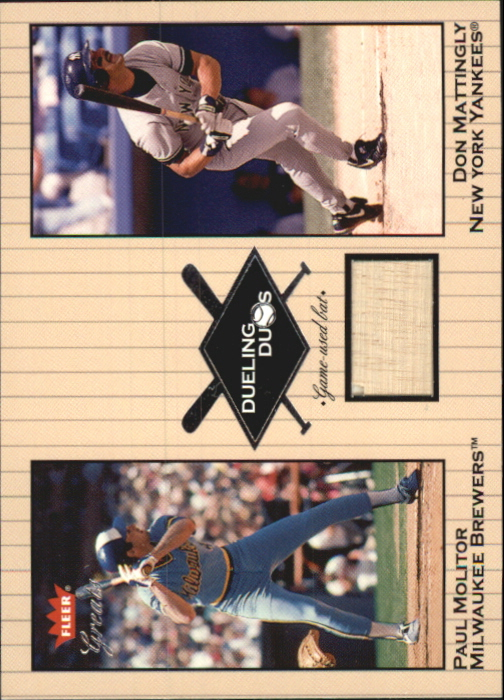 2002 Greats of the Game Dueling Duos Game Used Single #DM3 Paul Molitor/Don Mattingly Bat