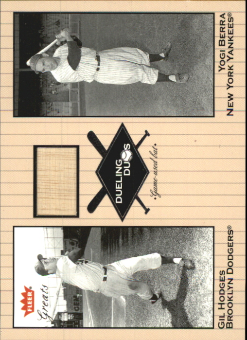2002 Greats of the Game Dueling Duos Game Used Single #GH1 Yogi Berra/Gil Hodges Bat