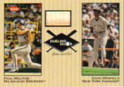 2002 Greats of the Game Dueling Duos Game Used Single #PM2 Paul Molitor Bat/Dave Winfield