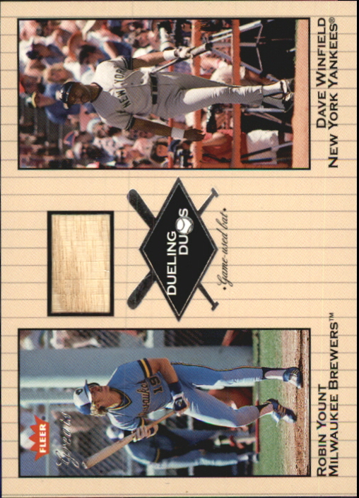 2002 Greats of the Game Dueling Duos Game Used Single #RY1 Robin Yount Bat/Dave Winfield