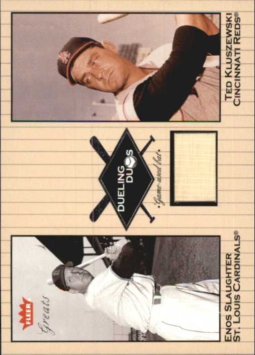 2002 Greats of the Game Dueling Duos Game Used Single #TK1 Enos Slaughter/Ted Kluszewski Bat