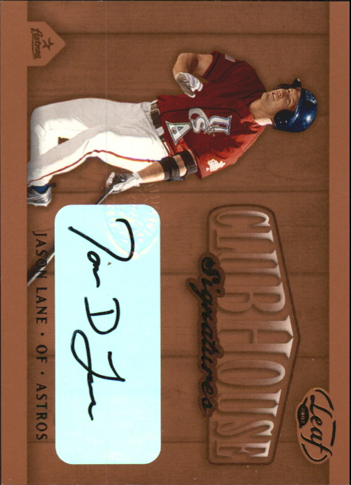 2002 Leaf Clubhouse Signatures Bronze #14 Jason Lane/250