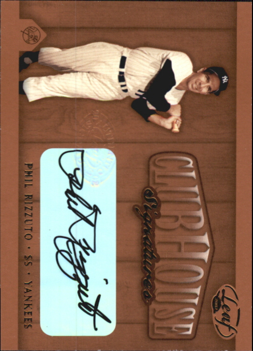 2002 Leaf Clubhouse Signatures Bronze #24 Phil Rizzuto/25