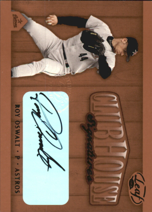 2002 Leaf Clubhouse Signatures Bronze #27 Roy Oswalt/300