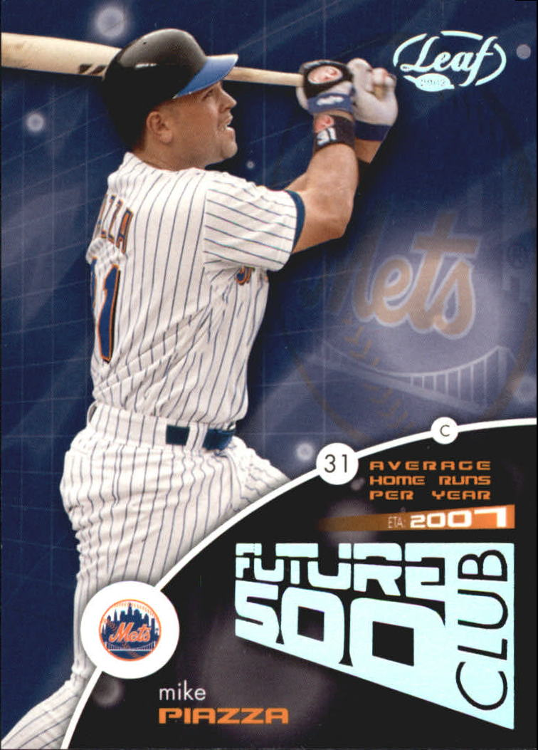 2002 Leaf Future 500 Club #2 Mike Piazza