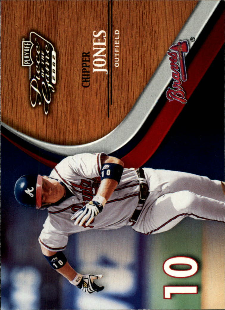 2002 Playoff Piece of the Game #4 Chipper Jones