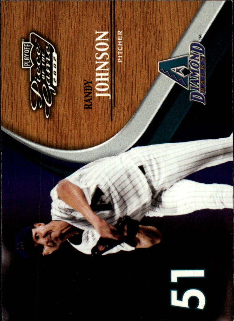 2002 Playoff Piece of the Game #7 Randy Johnson