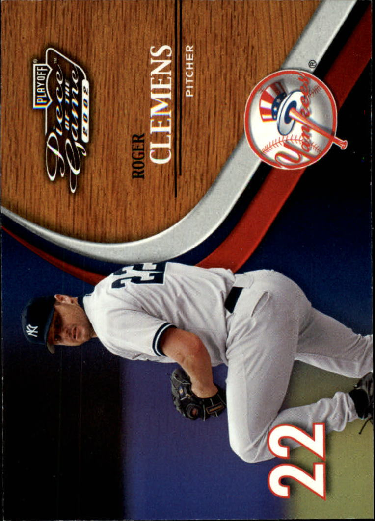2002 Playoff Piece of the Game #8 Roger Clemens