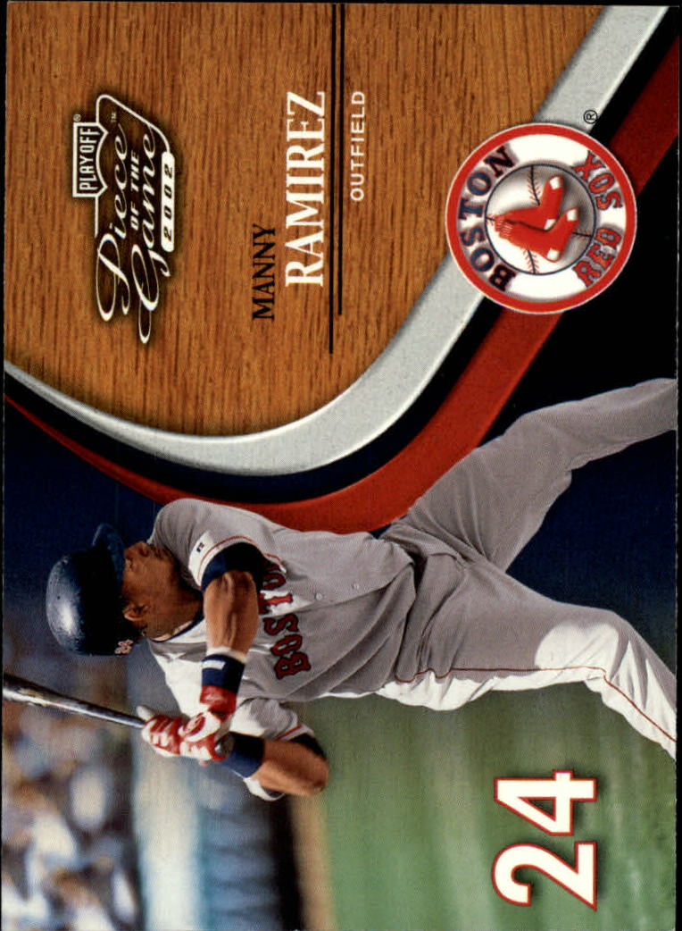 2002 Playoff Piece of the Game #16 Manny Ramirez