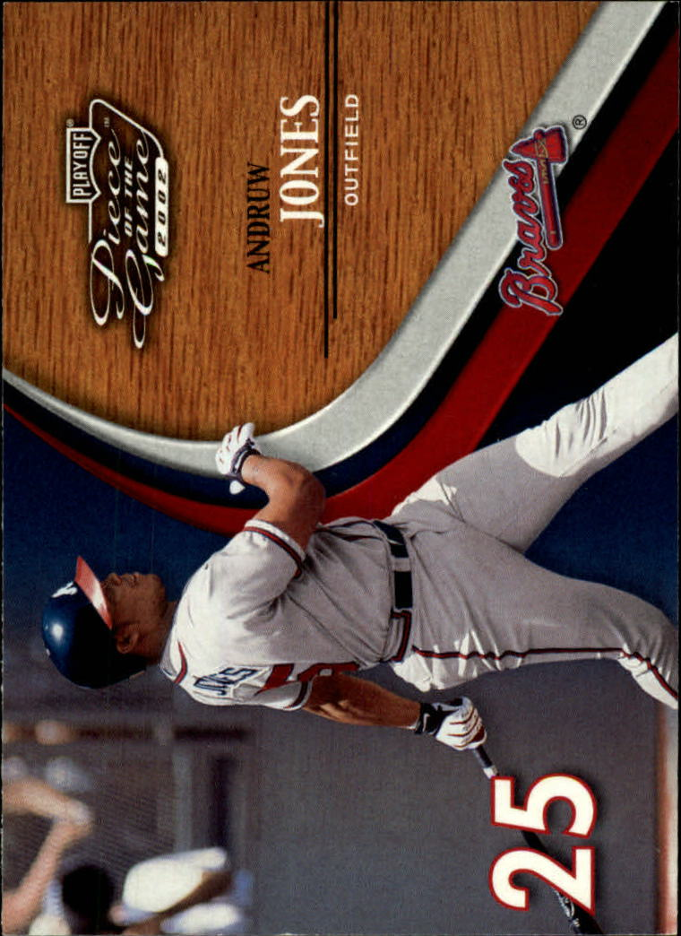2002 Playoff Piece of the Game #23 Andruw Jones
