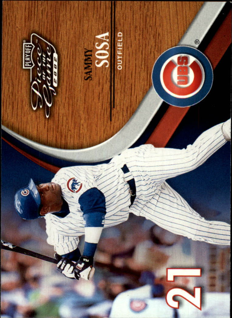 2002 Playoff Piece of the Game #25 Sammy Sosa