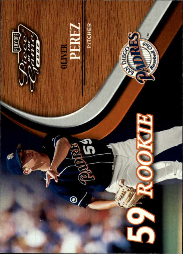 2002 Playoff Piece of the Game #53 Oliver Perez ROO RC