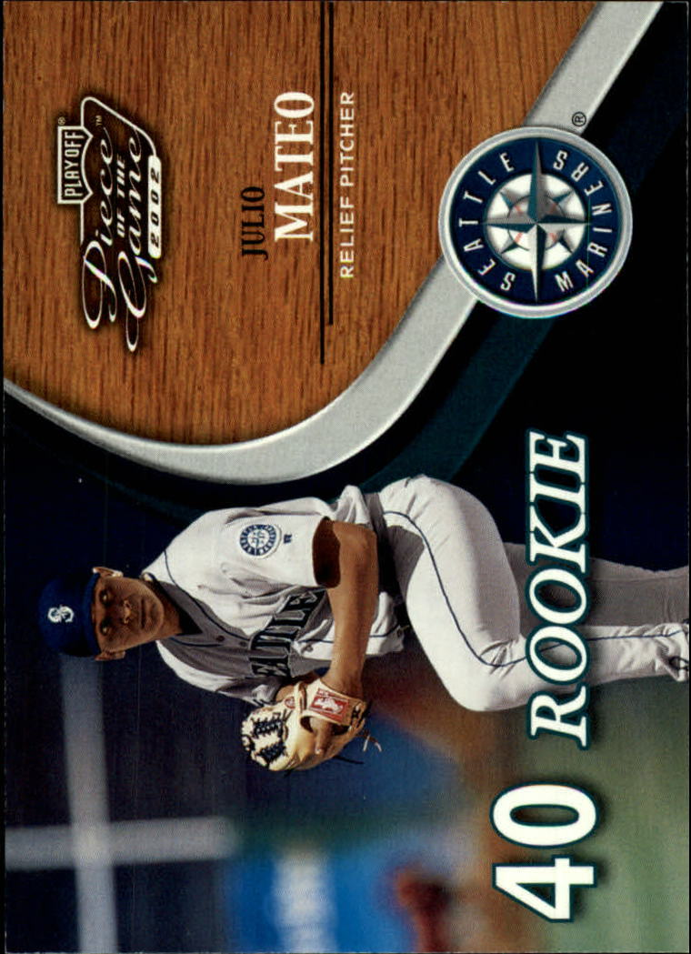 2002 Playoff Piece of the Game #65 Julio Mateo ROO RC