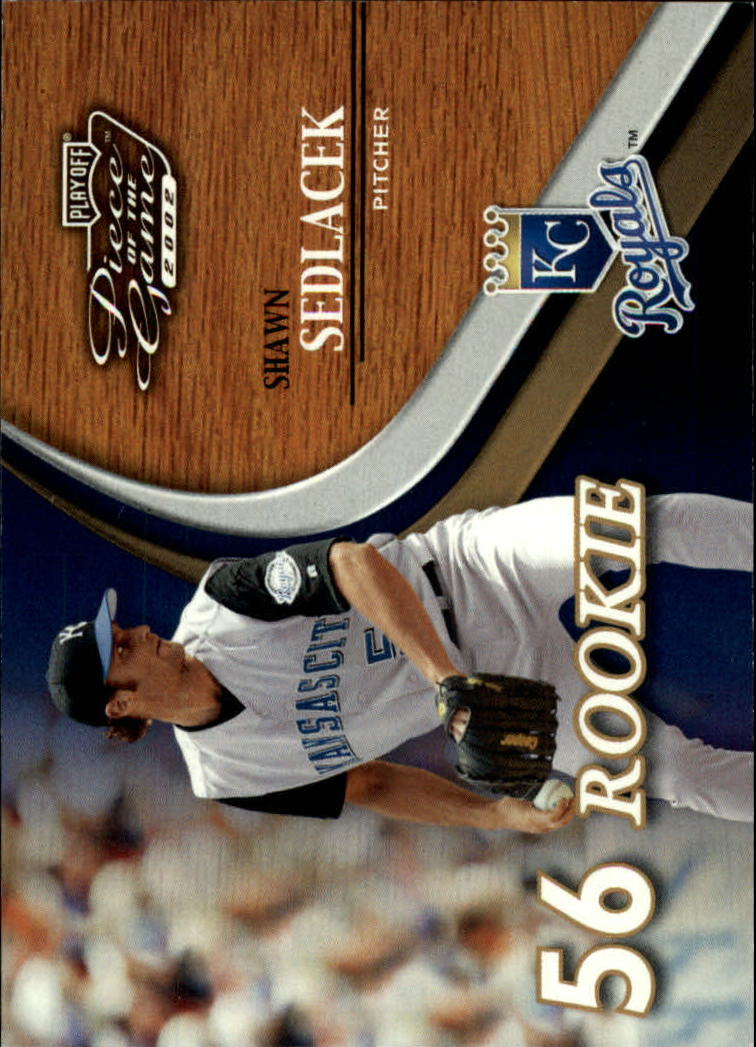 2002 Playoff Piece of the Game #70 Shawn Sedlacek ROO RC
