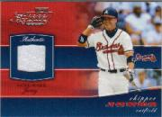 2002 Playoff Piece of the Game Materials #13A Chipper Jones Jsy
