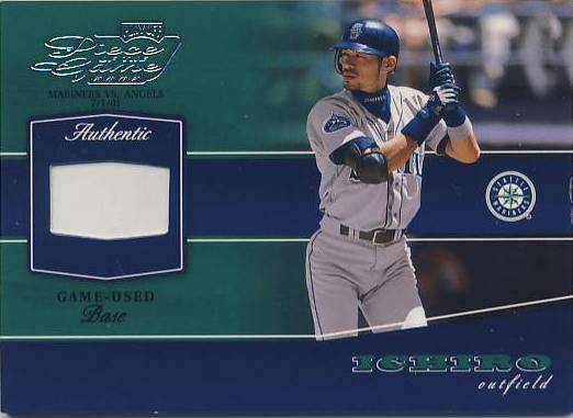 2002 Playoff Piece of the Game Materials #28A Ichiro Suzuki Base