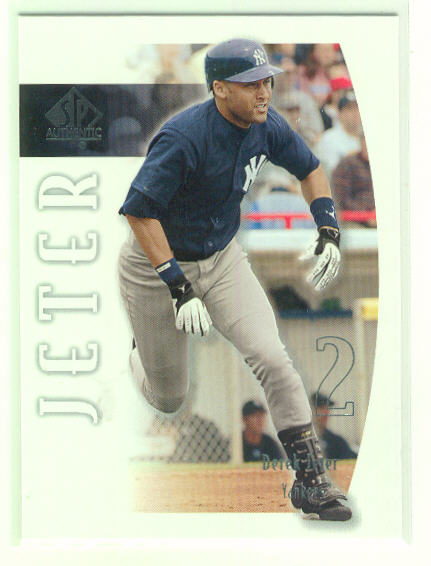 2002 SP Authentic #39 Derek Jeter